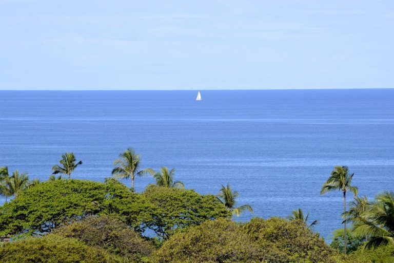 A gorgeous view from the upper lanai