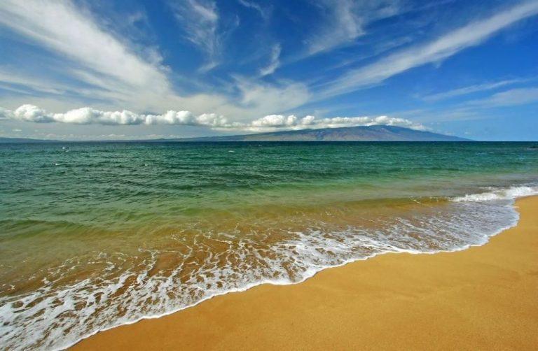 Maui view looking toward the island of Lanai