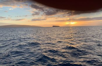 Sunset Over Molokini Crater with Kaho'olawe in Background