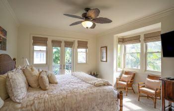 Upstairs Bedroom Includes a Large Screen TV